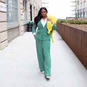 Other - Green Striped Suit